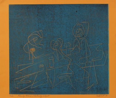 <i>Family Group; Saturday Night</i><br>1970 Serigraph<br><br>#2157B