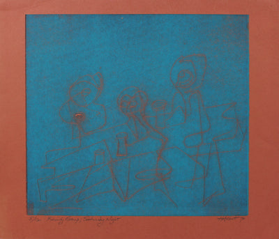 <i>Family Group; Saturday Night</i><br>1970 Serigraph<br><br>#2157C