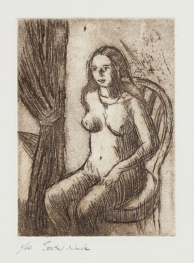 <i>Seated Nude</i><br>C. 1965 Etching<br><br>#2166A