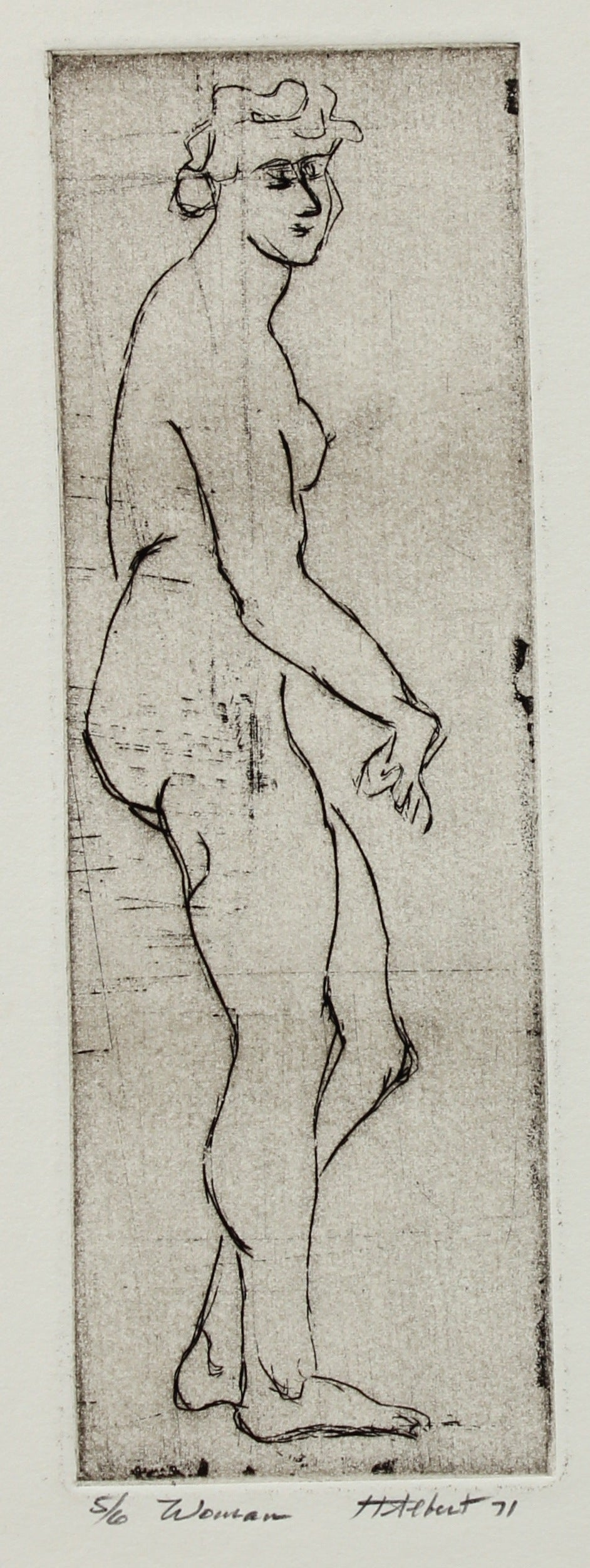 <i>Woman</i><br>Etching, 1971<br><br>#2191