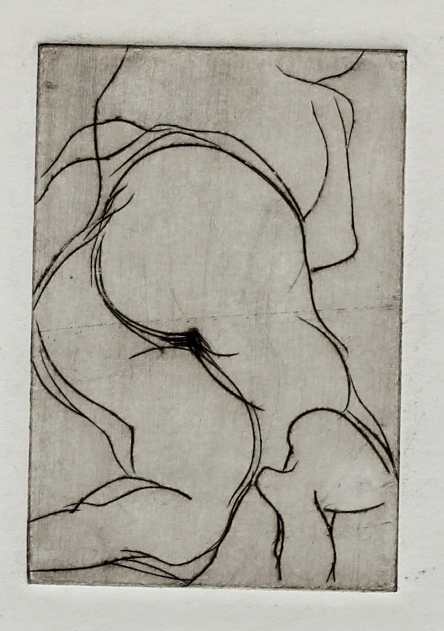 Abstract Figurative Etching <br>1960-70s <br><br>#2208A