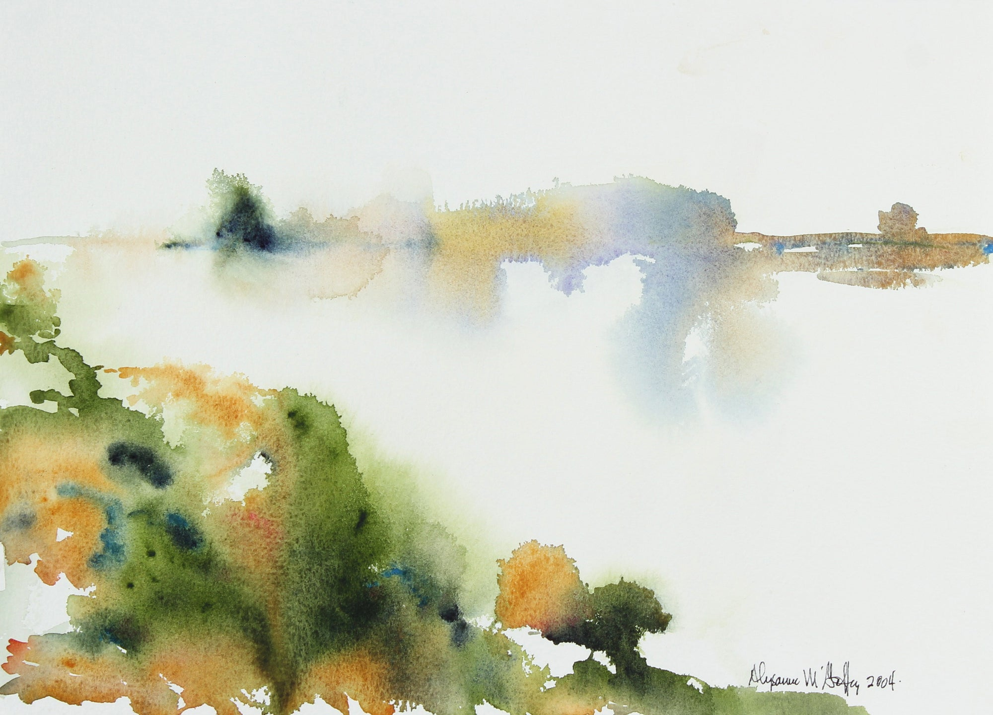 Moody California Watercolor Abstraction, 2004 <br><br>#22508