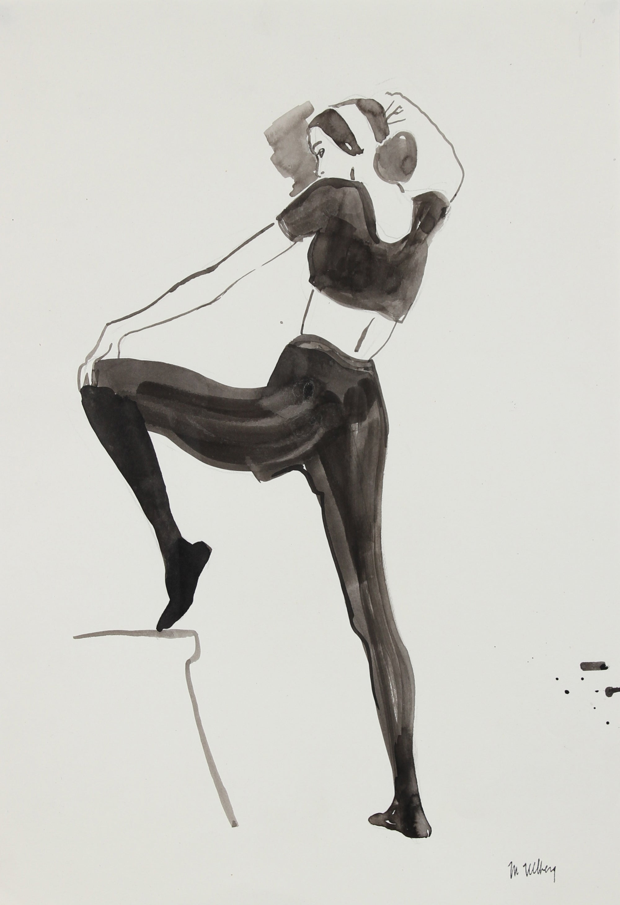 Dancer Fashion Illustration<br>Gouache, 1946-54<br><br>#27206