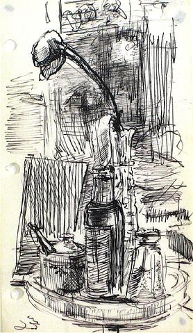 Desktop Study<br>Ink, 1940-60s<br><br>#10399