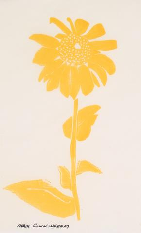 Yellow Sunflower<br>1960-70s Serigraph<br><br>#71329