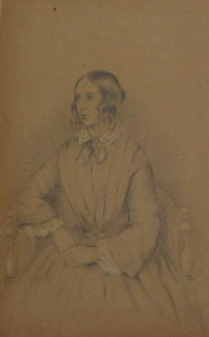 Regal Seated Woman, Portrait Study<br>Early-Mid 1800s Graphite<br><br>#10139