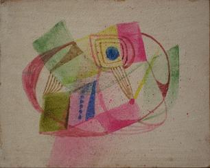 Colorful Retro Abstract<br>1960s, Watercolor<br><br>#13528