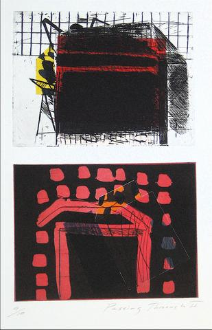 <i>Passing Through II</i><br>Mixed Media Print, 1989<br><br>#11771