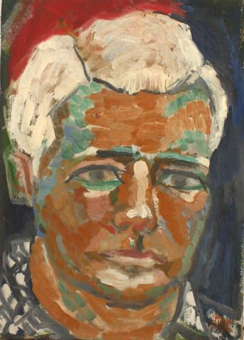 Portrait of a Man<br>Mid Century Oil<br><br>#4885