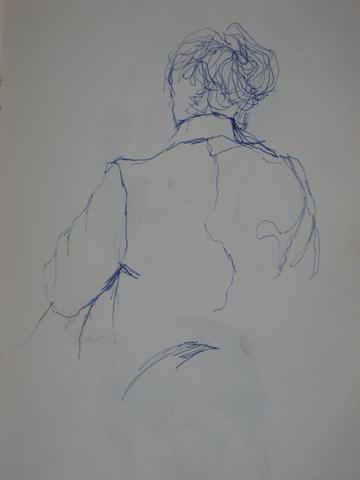 New York Figurative Sketch<br>Ballpoint Pen<br><br>#0225