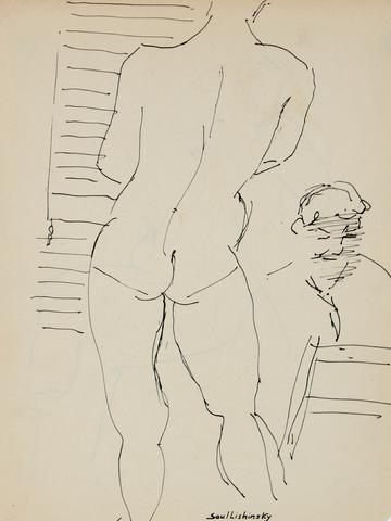 Figure Drawing Class<br>Ink, Mid Century<br><br>#57972