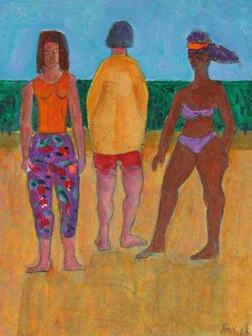 <i>Love Boat Series - Beach Trip</i><br>2008 Acrylic & Graphite<br><br>#71253