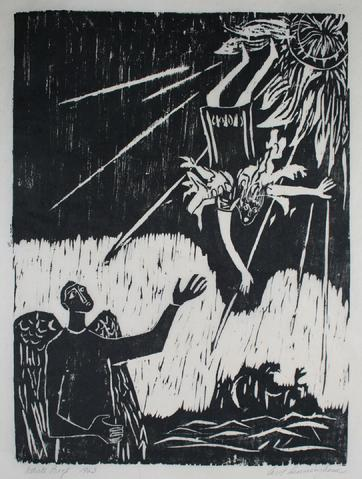 <i>Daedalus & Icarus</i><br>1963 Woodcut<br><br>#71286