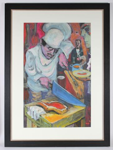 <i>Poor Little Cook</i><br>1952 Casein on Paper<br><br>#33553