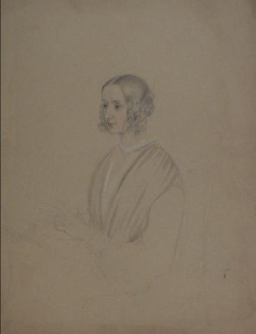 Study of a Young British Woman<br>Early-Mid 1800s<br><Br>#10099