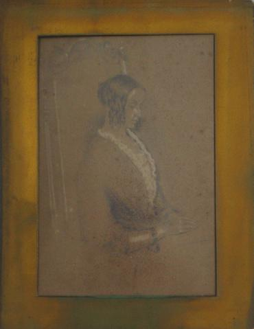 Contemplative Seated Woman, Portrait Study<br>Early-Mid 1800s<br><br>#10118