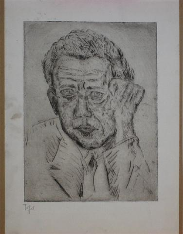 Self Portrait of the Artist<br>Early 20th Century Etching<br><br>#11255
