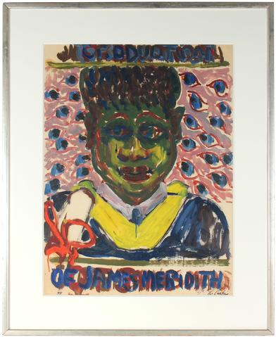<i>Graduation of James Meridith</i><br>Mid Century Acrylic<br><br>#5366