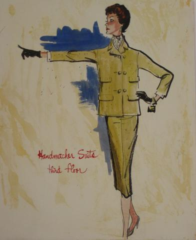 Woman in a Mustard Suit<br>Watercolor, 1946-54<br><br>#5209