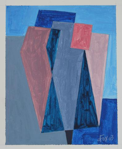 Cool Geometric Abstract<br>2004 Acrylic on Paper<br><br>#19202