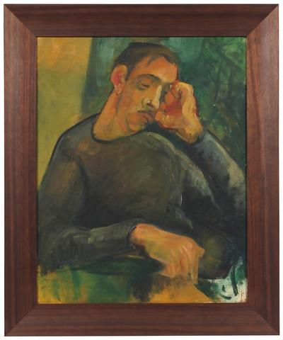 Thoughtful Man<br>1940s Oil<br><br>#56116