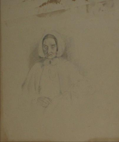 Face Study of A Woman<br>Early-Mid 1800s Graphite<br><br>#10120