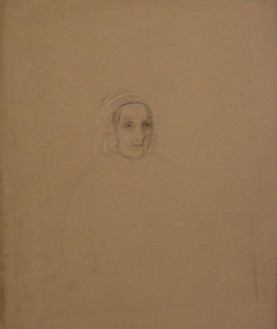 Study of an Old Woman's Face<br>Watercolor, Early-Mid 1800s<br><br>#10142