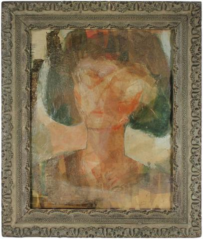 Abstracted Portrait of A Woman<br>Mid Century Collage<br><br>#80157