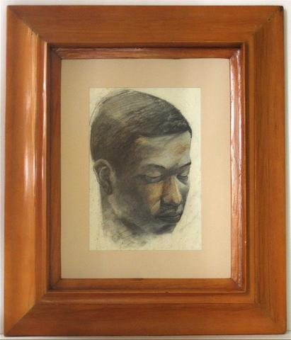 <i>Face Study</i><br>1920-30s Charcoal & Pastel<br><br>#9725