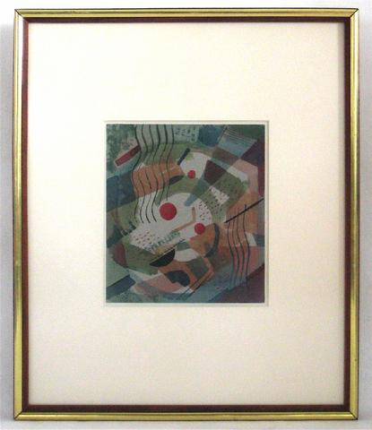 Abstract In Subdued Hues<br>Late 1940s, Watercolor<br><br>#13397