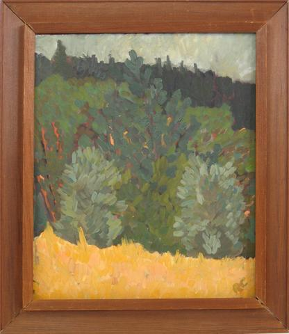 Small Framed Landscape<br>Mid Century Oil<br><br>#4933