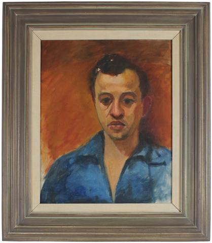 <i>Self Portrait</i><br>Early 1940s Oil<br><br>#51742