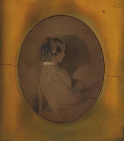Woman Reading, Graphite Study<br>Early-Mid 1800s<br><br>#10119