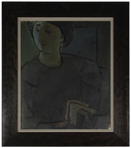 Moody Portrait of a Woman<br>1930s Oil<br><br>#50815