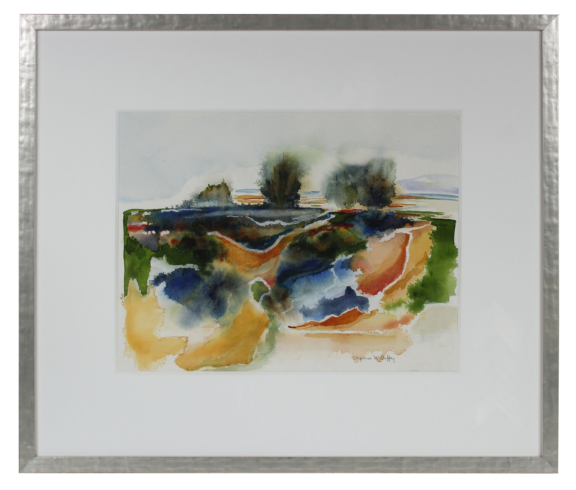<i>Sonoma Beach, CA</i> <br>20th Century Watercolor <br><br>#43845