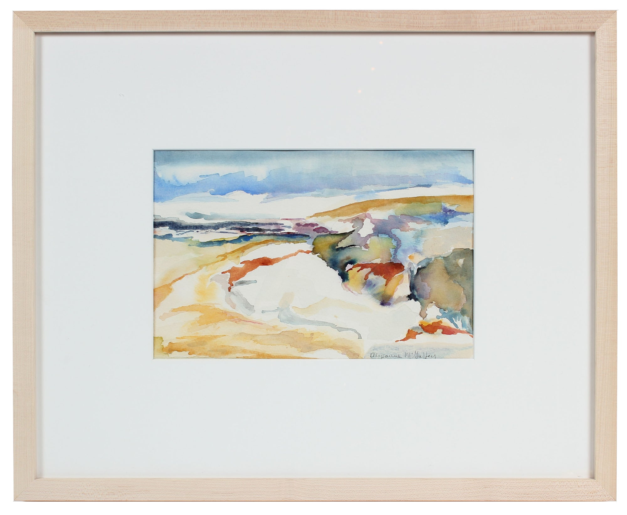 <i>Sand Dunes</i> <br>20th Century Watercolor <br><br>#43995