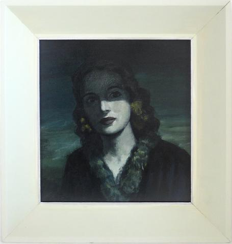 Somber Portrait of a Woman<br>1930s Oil<br><br>#9615