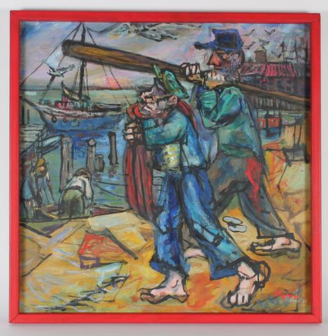 <i>Fishermen</i><br>1957 Oil<br><br>#33403