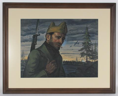<i>Spanish Civil War</i><br>1930-60s Oil<br><br>#14486