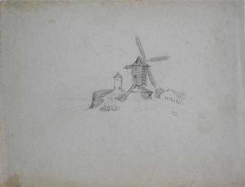 British Windmill in Graphite<br>Early-Mid 1800s<br><br>#10055