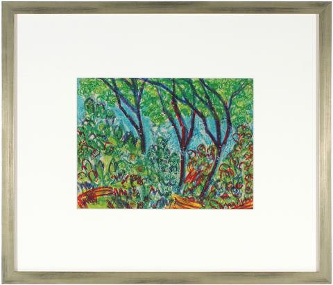 Colorful Abstracted Forest<br>1960s Pastel<br><br>#10765
