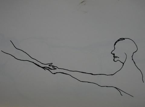 Reaching Figure<br>Pen on Paper<br><br>#0212