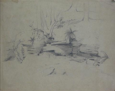 Abstracted Ruins<br>Early-Mid 1800s, Graphite<br><br>10042