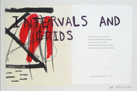 <i>Intervals and Grids</i><br>1999-2000 Litho & Chine Colle<br><br>#11693