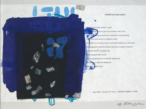 <i>Intervals and Grids</i><br>1999 Lithograph, Chine Colle & Text<br><br>#11695