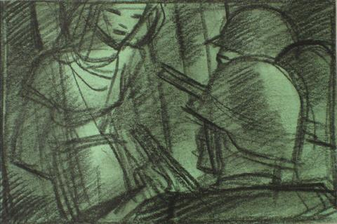 Don't Shoot<br>1930-60s Graphite Sketch<br><br>#13195