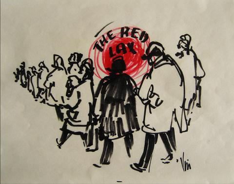 <i>The Red Lax</i><br>1960s, Felt Pen<br><br>#16208
