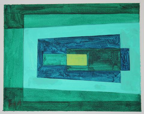 Geometic Study in Green<br>2004 Acrylic<br><br>#19208