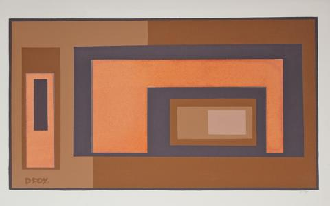 Rectangular Abstract<br>1960s Serigraph<br><br>#19474