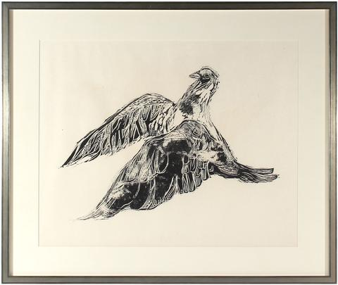 <i>Dove</i><br>1960s Woodcut<br><br>#8595